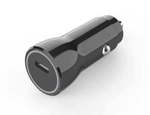 CC12 – Plastic car charger single USB-C PD18W
