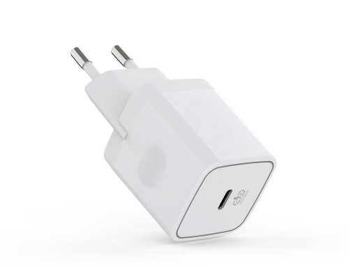 WC10-Plastic Wall Charger single USB-C PD20W